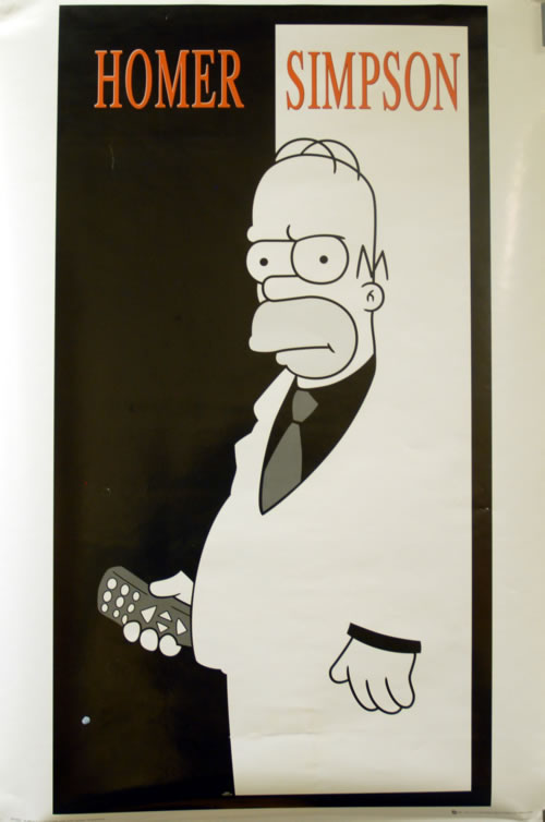 The Simpsons Homer Simpson UK poster 24 X 36