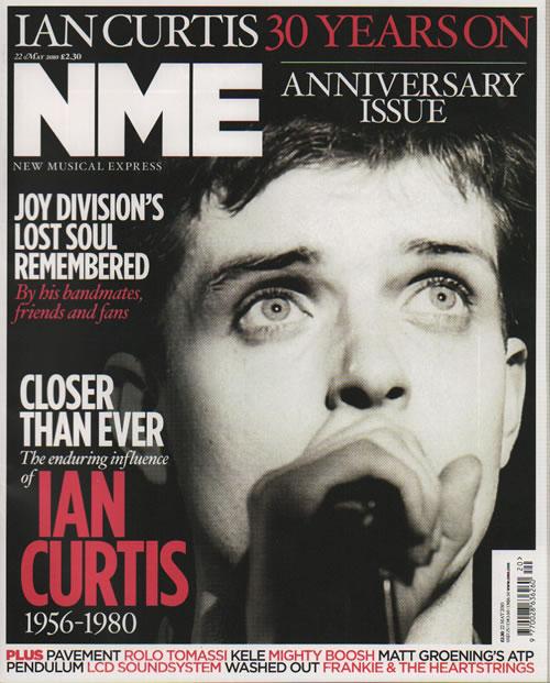 Joy Division NME  22 May 2010 2010 UK magazine 22 MAY 2010