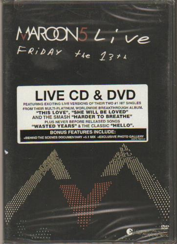 Maroon 5 Friday The 13th 2005 USA 2disc CDDVD set 82876709742