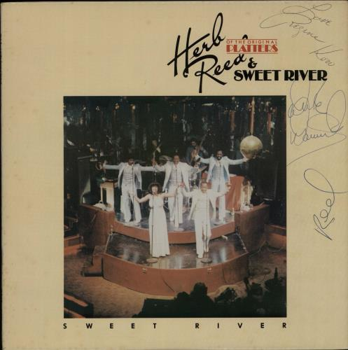 Herb Reed Sweet River  Autographed 1979 USA vinyl LP SAIL0106
