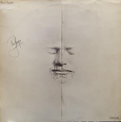 Roy Harper Lifemask  1st  Factory Sample  Autographed 1973 UK vinyl LP SHVL808
