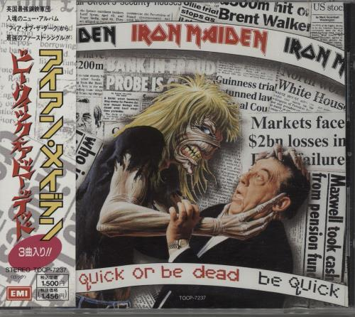 Iron Maiden Be Quick Or Be Dead 1992 Japanese CD single TOCP7237
