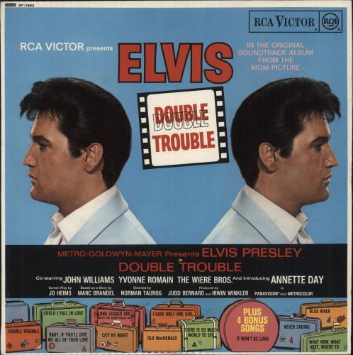Elvis Presley Double Trouble  Stereo  Red Spot 1967 UK vinyl LP SF7892