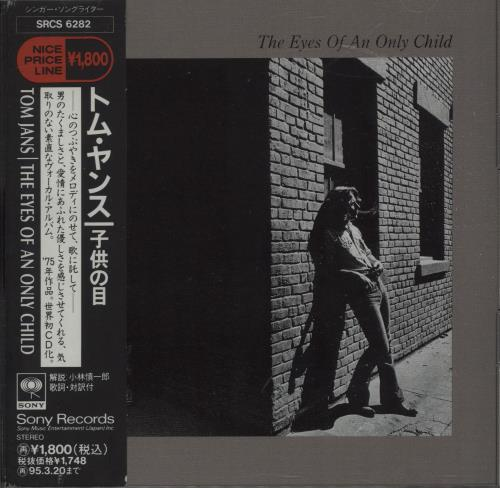 Tom Jans The Eyes Of An Only Child 1993 Japanese CD album SRCS6282