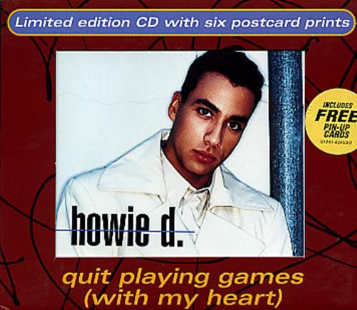 Backstreet Boys Quit Playing Games With My Heart  postcards 1997 USA CD single 01241424532
