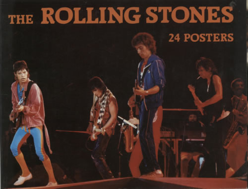 Rolling Stones 24 Posters Book 1983 UK book ISBN 08628306