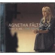 Agnetha F�ltskog That's Me - The Greatest Hits CD album GERMANY