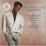 Billy Ocean Greatest Hits - Hype Stickered Sleeve vinyl LP UNITED KINGDOM