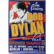 Bob Dylan Berlin Arena October 20, 2003 Poster poster GERMANY