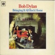 Bob Dylan Bringing It All Back Home - plain orange label vinyl LP UNITED KINGDOM
