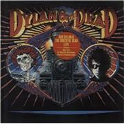 Bob Dylan Dylan & The Dead - Stickered sleeve - EX vinyl LP NETHERLANDS