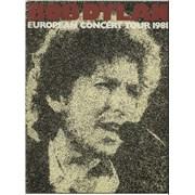Bob Dylan European Concert Tour 1981 tour programme UNITED KINGDOM
