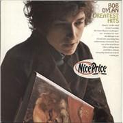 Bob Dylan Greatest Hits - Red Label - Stickered vinyl LP UNITED KINGDOM