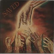 Bob Dylan Saved vinyl LP UNITED KINGDOM
