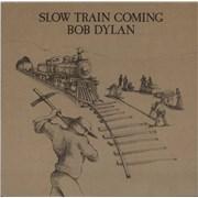 Bob Dylan Slow Train Coming - 1st + Inner vinyl LP UNITED KINGDOM