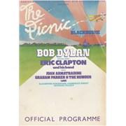 Bob Dylan The Picnic At Blackbushe Aerodrome tour programme UNITED KINGDOM