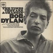 Bob Dylan The Times They Are A-Changin' - 1st - VG vinyl LP UNITED KINGDOM