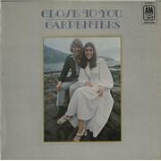 Carpenters Close To You vinyl LP UNITED KINGDOM