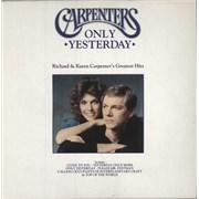 Carpenters Only Yesterday vinyl LP UNITED KINGDOM