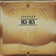 Carpenters The Singles 1974-1978 vinyl LP UNITED KINGDOM
