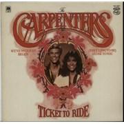 Carpenters Ticket To Ride vinyl LP UNITED KINGDOM