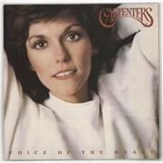 Carpenters Voice Of The Heart + lyric inner vinyl LP UNITED KINGDOM