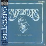 Carpenters Yesterday Once More + Obi laserdisc JAPAN