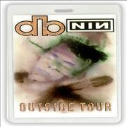 David Bowie Outside Tour Passes tour pass USA