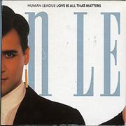Human League Love Is All That Matters CD single UNITED KINGDOM