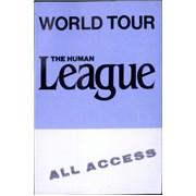 Human League World Tour tour pass UNITED KINGDOM