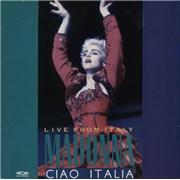 Madonna Ciao Italia - Live From Italy CDVideo laserdisc UNITED KINGDOM