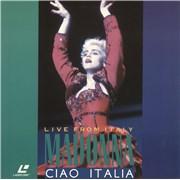 Madonna Ciao Italia - Live From Italy laserdisc GERMANY