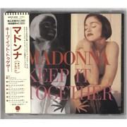 Madonna Keep It Together + Obi CD single JAPAN