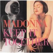 Madonna Keep It Together CD single AUSTRALIA