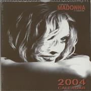 Madonna The Many Faces Of Madonna - Calendar 2004 - Sealed calendar UNITED KINGDOM