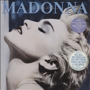 Madonna True Blue + Poster - 2 Stickers - EX vinyl LP UNITED KINGDOM