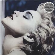 Madonna True Blue - 180gm Clear Vinyl + Poster - Sealed vinyl LP UNITED KINGDOM