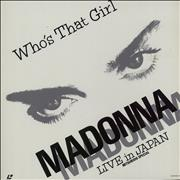 Madonna Who's That Girl - Live In Japan + Booklet laserdisc JAPAN