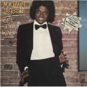 Michael Jackson Off The Wall - shaped-sticker p/s vinyl LP UNITED KINGDOM