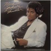 Michael Jackson Thriller - 1st - TGIM Sticker vinyl LP UNITED KINGDOM