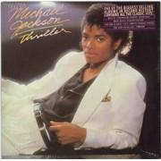 Michael Jackson Thriller - Sealed + Song Hype Sticker vinyl LP USA