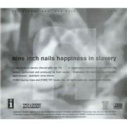 Nine Inch Nails Happiness In Slavery CD single USA