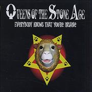 Queens Of The Stone Age Everybody Knows That You're Insane CD single UNITED KINGDOM