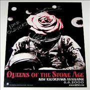 Queens Of The Stone Age Rated R - AUTOGRAPHED poster USA