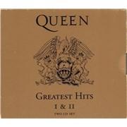 Queen Greatest Hits I & II + Slipcase 2-CD album set UNITED KINGDOM