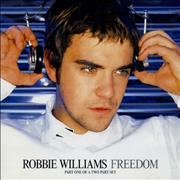Robbie Williams Freedom + postcards 2-CD single set UNITED KINGDOM