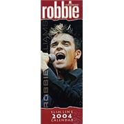 Robbie Williams Slimline 2004 Calendar calendar UNITED KINGDOM