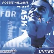 Robbie Williams United CD + Carrier Bag CD single UNITED KINGDOM