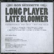 Ron Sexsmith Long Player Late Bloomer CD-R acetate USA