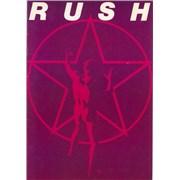 Rush 2112 Tour - EX tour programme UNITED KINGDOM